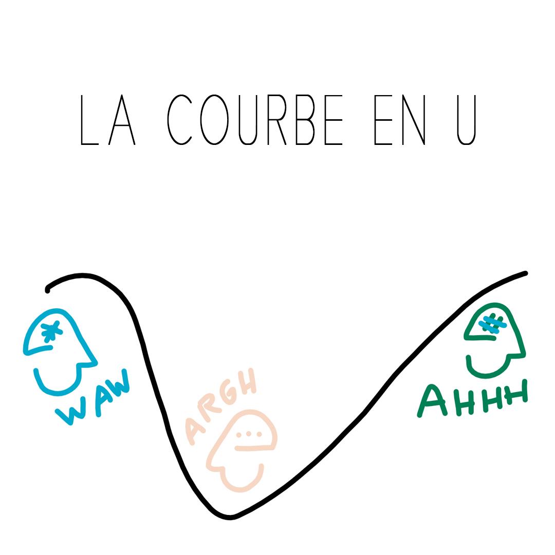 courbe en u